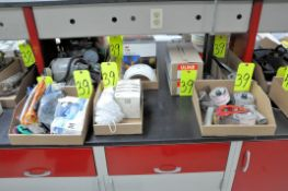 Lot-Respirators, Ear Plugs, Gloves, Masks, Inventory Tags, Tape Guns, Banding Tools in (8) Boxes
