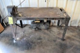 "Work Bench with 6"" Swivel Bench Vise"