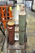 Lot-(1) Tank Cart with Oxygen and Acetylene Tanks