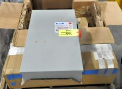 Lot-(2) Eaton 200-Amp Enclosed Heavy Duty Safety Switch Boxes on