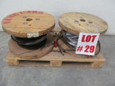 (2) ROLLS HEAVY DUTY STEEL CABLE, 1/2'' & 5/8'', C/W (2) CHOKE CABLES, LOCATION, HAWKESBURY,