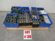 ASSORTED HARD PLASTIC CABLE CLAMPS
