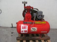 DeVILBISS 3HP AIR COMPRESSOR, 115V/208V/230V/1PH/60C, LOCATION, HAWKESBURY, ONTARIO
