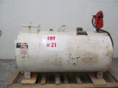 FUEL HEAVY DUTY HOLDING TANK WITH PUMP, TANK 3 FT X 6 FT, LOCATION, HAWKESBURY, ONTARIO
