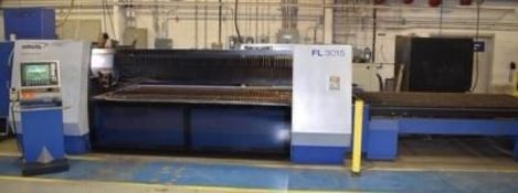 HANKWANG MODEL F13015 CO2 LASER CUTTING MACHINE W/ DUAL 5' X 10' TABLES LOCATION: PLANT IN ONTARIO