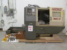 HARDINGE CNC LATHE, MODEL LC COBRA 42, FANUC-21-T CONTROL, LOCATION, HAWKESBURY, ONTARIO