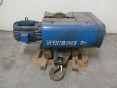 SHAW-BOX OVERHEAD HOIST, 10TON CAPACITY, 575V/3PH/60C