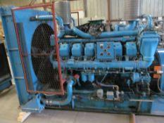 SIMPOWER DIESEL GENERATOR V-12 600 KW 750KVA BBC 722 AMP VOLTAGE: 347/600 RPM 1800 MODEL: 715 HOURS: