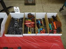 LOT ASSORTED ALLEN WRENCHES (4 BOXES)