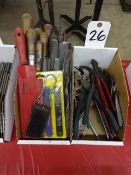 LOT ASSORTED FILES & PLIERS