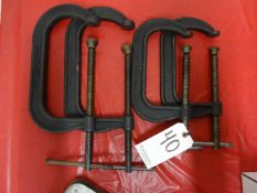 LOT (2) #408 DIECRAFT C-CLAMPS & (2) #406 DIECRAFT C-CLAMPS