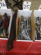 LOT ASSORTED OPEN END WRENCHES