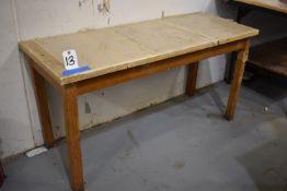 LOT (3) WOOD TABLES (NO CONTENTS)
