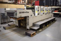 1996 OLIVER SAKURAI 72 X 52 (28 X 20) MODEL OLIVER 472EDII 4/C SHEET FED PRINTING PRESS: