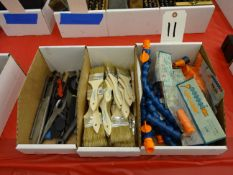 LOT: CHIP BRUSHES, COOLANT NOZZLES & WRENCHES