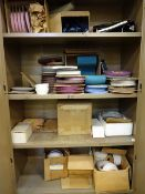 LOT: ASSORTED GRINDING WHEELS IN CABINET