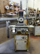 HARIG 6 X 12 MODEL 612 HAND FEED SURFACE GRINDER, S/N 19863, 1-1/2HP, 2800-3425 RPM