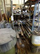 LOT: STEEL STOCK ON CANTILEVER RACK
