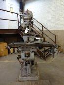 BRIDGEPORT 1HP VERTICAL MILLING MACHINE: S/N47121, 80-2720 RPM, 9 X 42 T-SLOT TABLE, POWER FEED