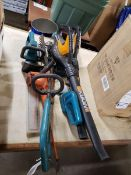LOT OF ASSORTED ELECTRIC YARD TOOLS