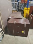 """WOODEN DESK 5' X 29.5"""" WITH 2 DRAWER LATERAL FILE CABINET"""