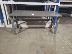 "METAL STEEL WORK TABLE 6' X 30"" X 33.5"""