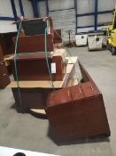SET OF OFFICE FURNITURE - DESKS, CHAIR AND CABINETS