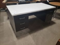 """DESK WITH METAL BASE 5' X 30"""""""