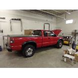 """2003 MANUAL CHEVY S10 TRUCK WITH 78"""" PLOW - NEEDS BREAKS - 109837 MILES - VIN 1GCCT19X938234959"""