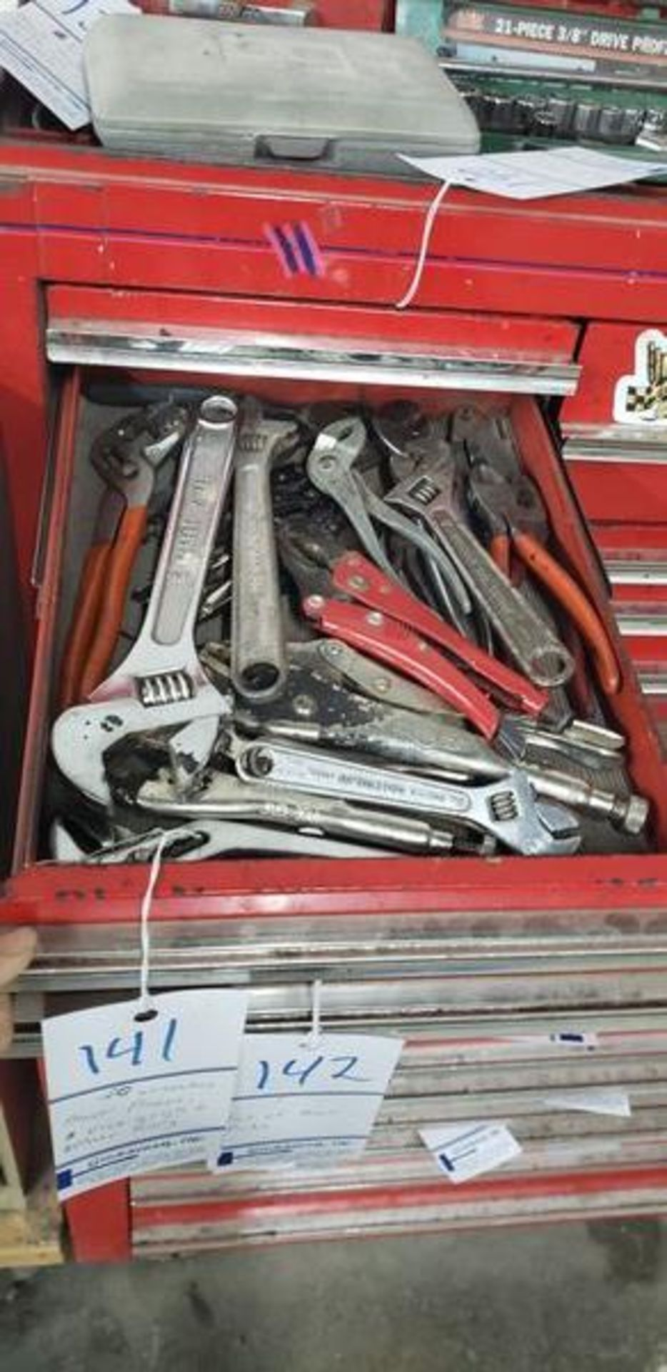 ASSORTED PLIERS, WRENCHES, VICE GRIPS AND OTHER HAND TOOLS