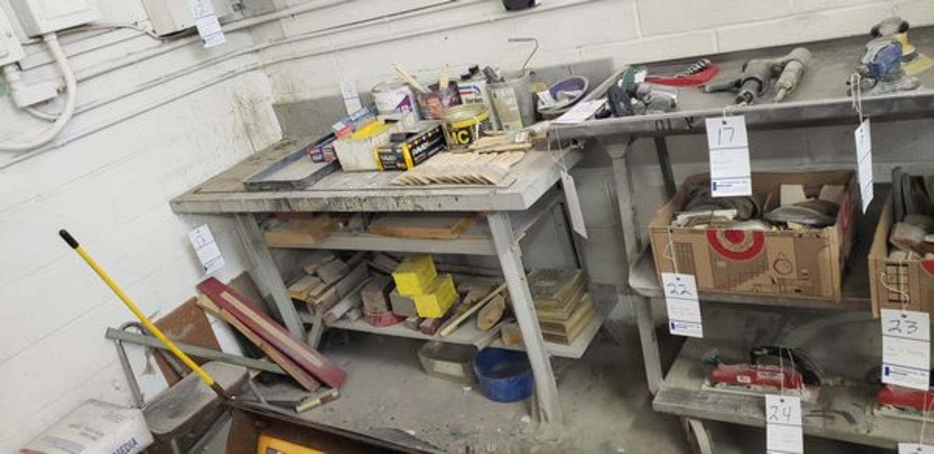 """SHOP TABLE 5' X 25"""" X 33"""" - Image 2 of 2"""