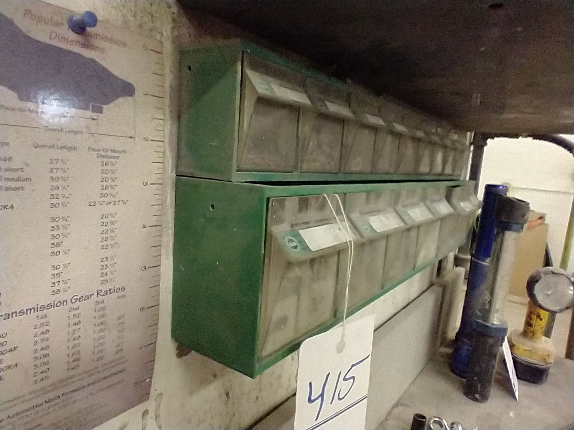 LOT OF 2 WALL MOUNTED SMALL PARTS SORTERS WITH CONTENTS - Image 3 of 3