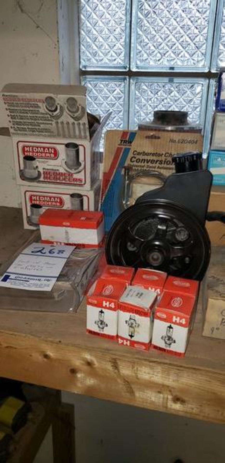 LOT OF ASSORTED CAR PARTS ON 2 SHELVES - Image 11 of 11
