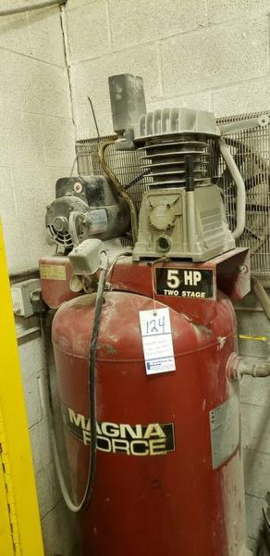 MAGNA FORCE 5HP TWO STAGE AIR COMPRESSOR - Image 2 of 5