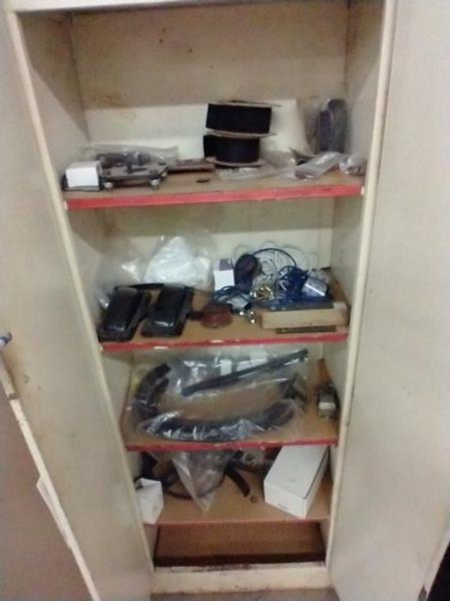 LOT OF MISC IN CABINET