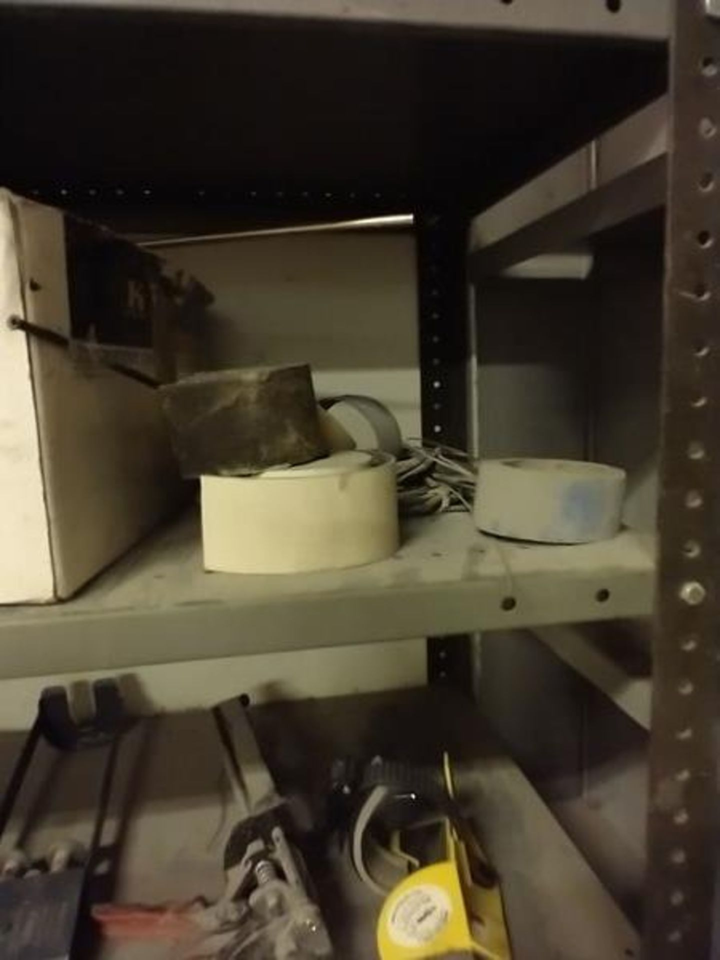 LOT OF PARTS, SEALS, TAPE AND MISC ON SHELF - Image 4 of 4