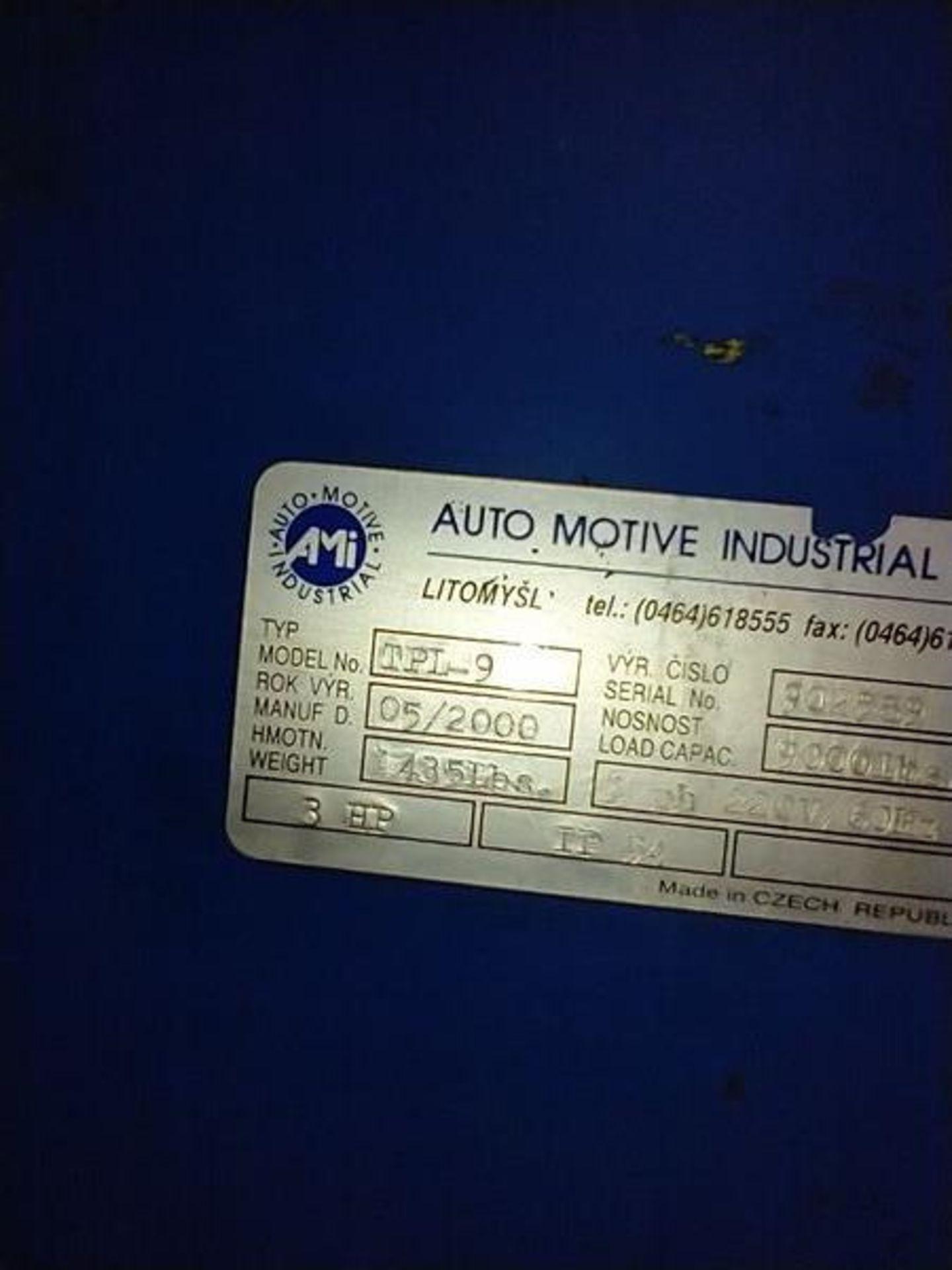 AUTO MOTIVE 2 POINT LIFT - MODEL TPL-9 , 3HP , 9000LB CAP - Image 5 of 7
