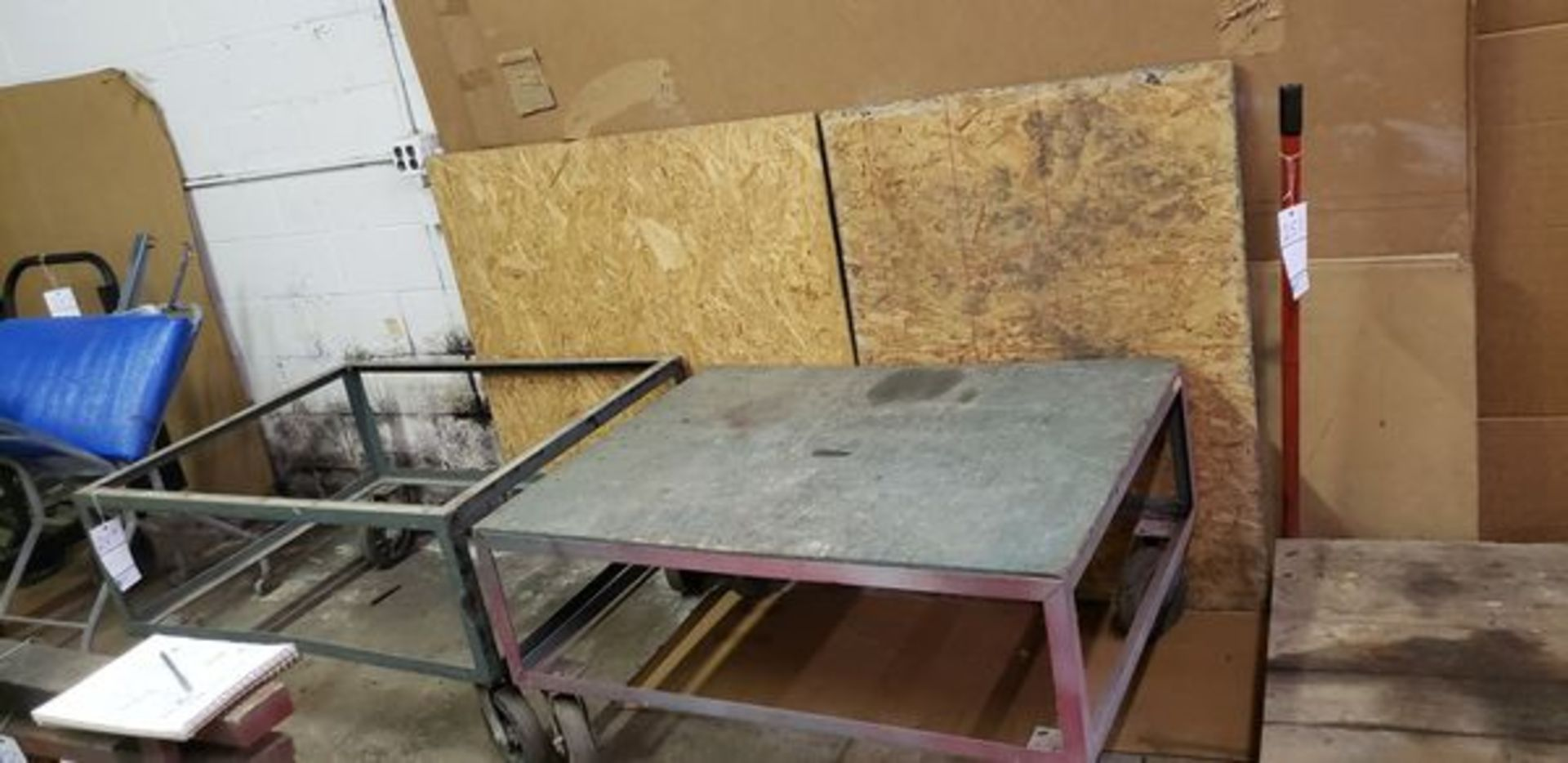 SHOP CARTS WITH EXTRA WOOD - Image 2 of 2