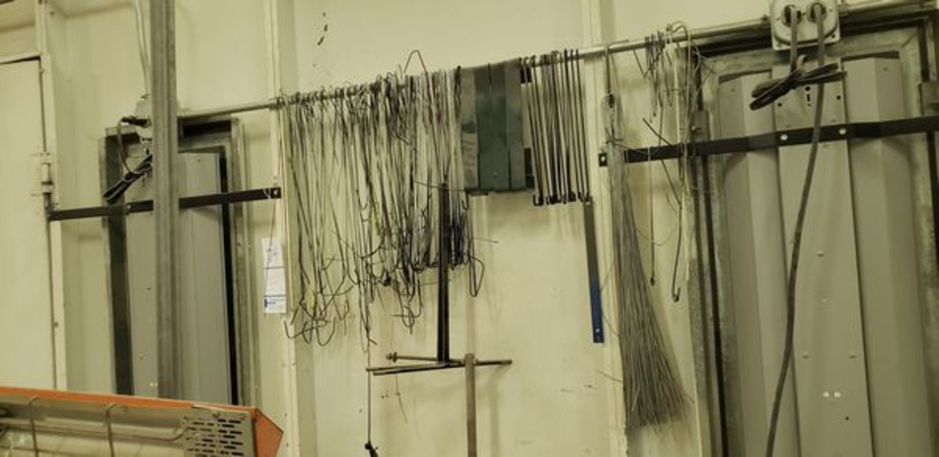 LOT OF PAINT BOOTH PARTS HANGERS