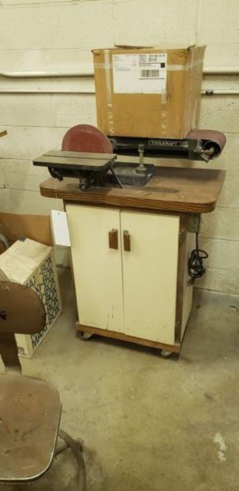 TOOL CRAFT BELT AND DISC SANDER - MODEL 4340 - WITH EXTRA BELTS