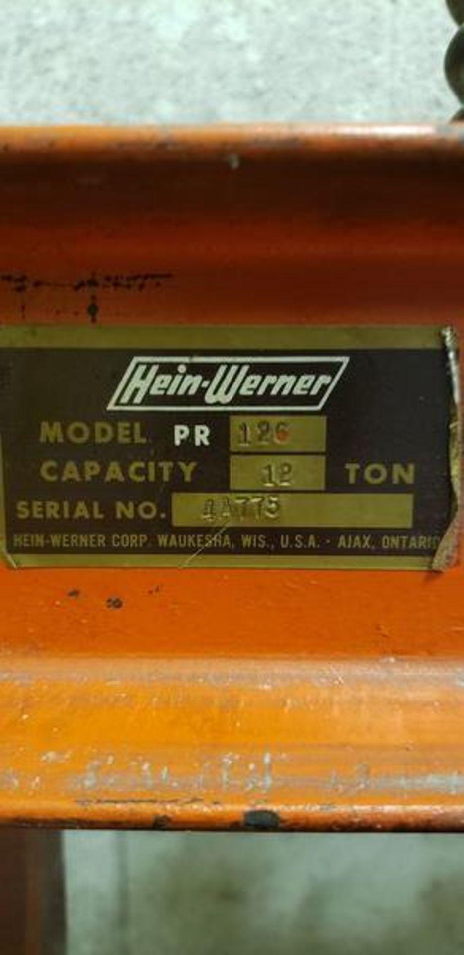 HEIN WERNER PRESS MODEL PR126 - 12 TON CAP - Image 6 of 6