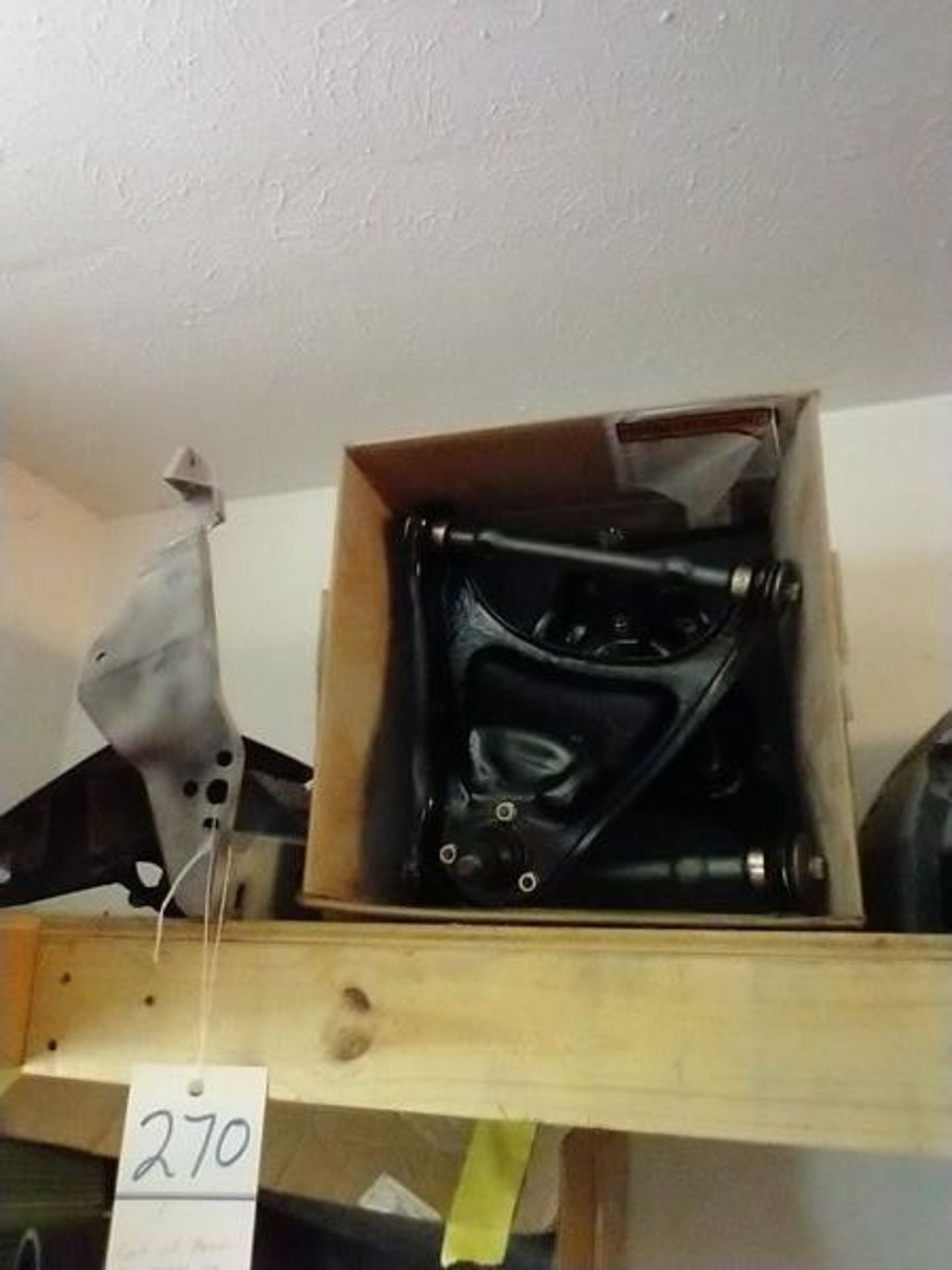 LOT OF ASSORTED CAR PARTS ON 2 SHELVES AND FLOOR - Image 2 of 23