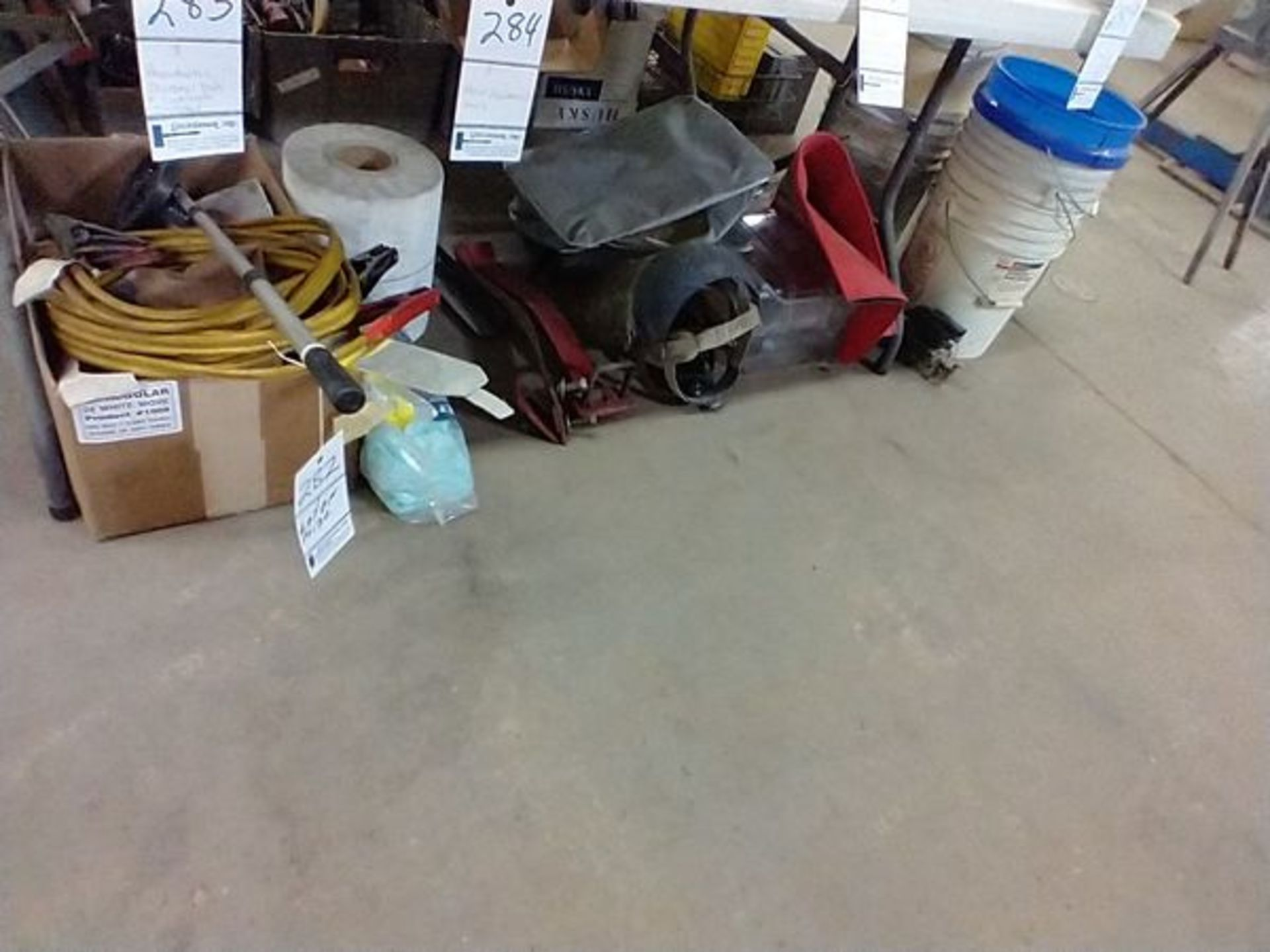 LOT OF MISC UNDER TABLE