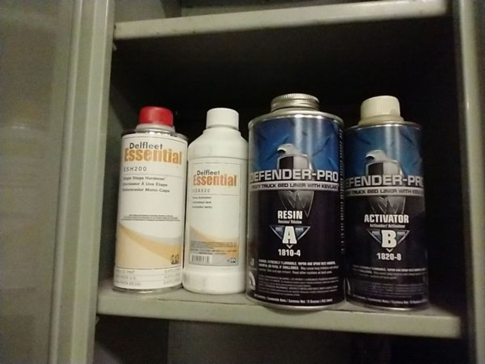 LOT OF 4 BOTTLES OF ACTIVATOR, RESIN, HARDENER AND SLOW ACTIVATION