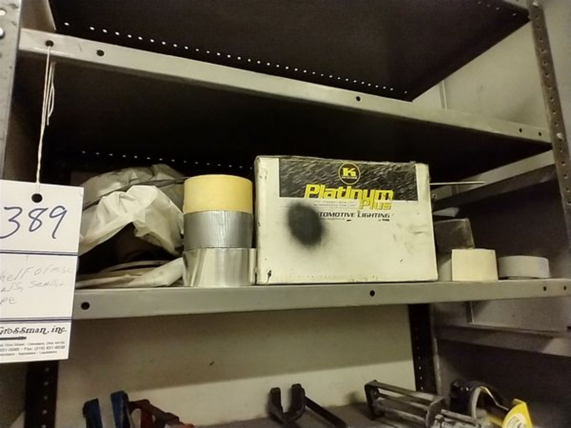 LOT OF PARTS, SEALS, TAPE AND MISC ON SHELF