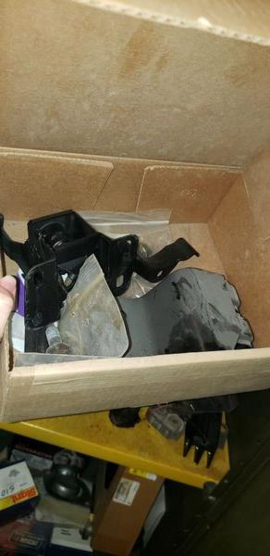 LOT OF S-10 AND PLOW PARTS WITH 2 DOOR METAL STORAGE CABINENT - Image 5 of 16