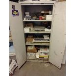CABINET WITH CONTENTS OF ELECTRICAL AND MISC