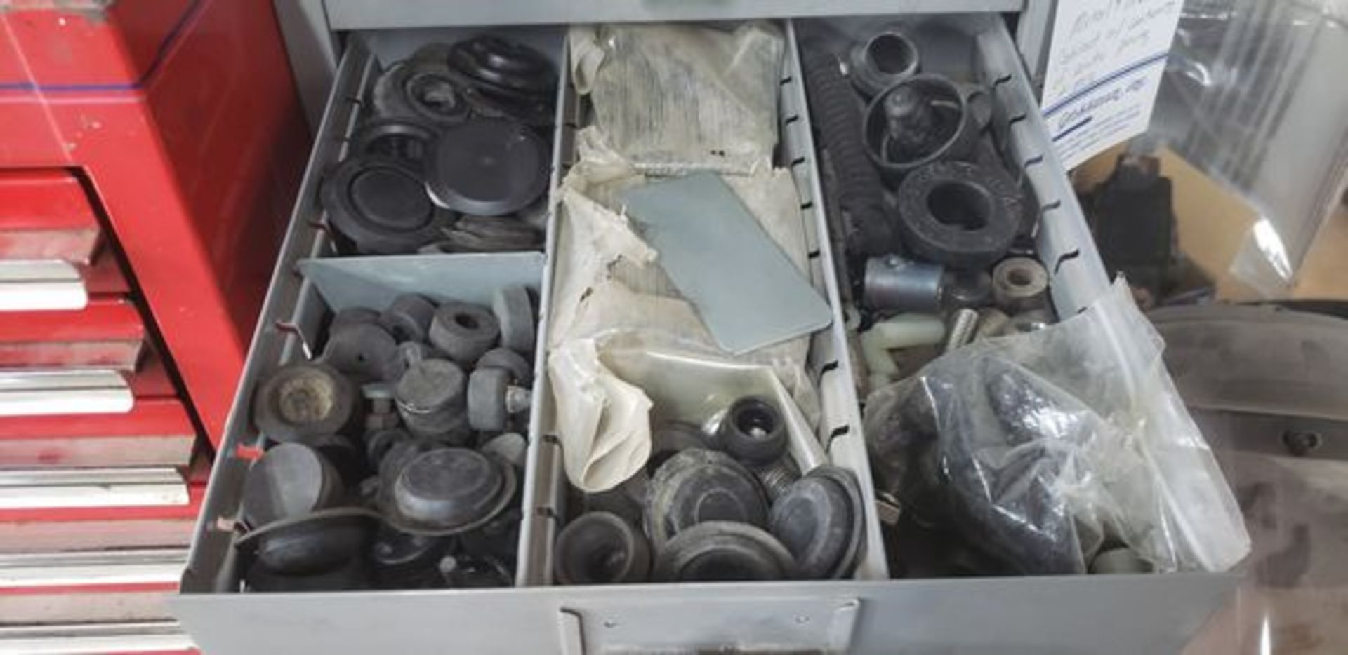 METAL 9 DRAWER CABINET WITH CONTENTS OF AUTO PARTS AND MISC - Image 6 of 10