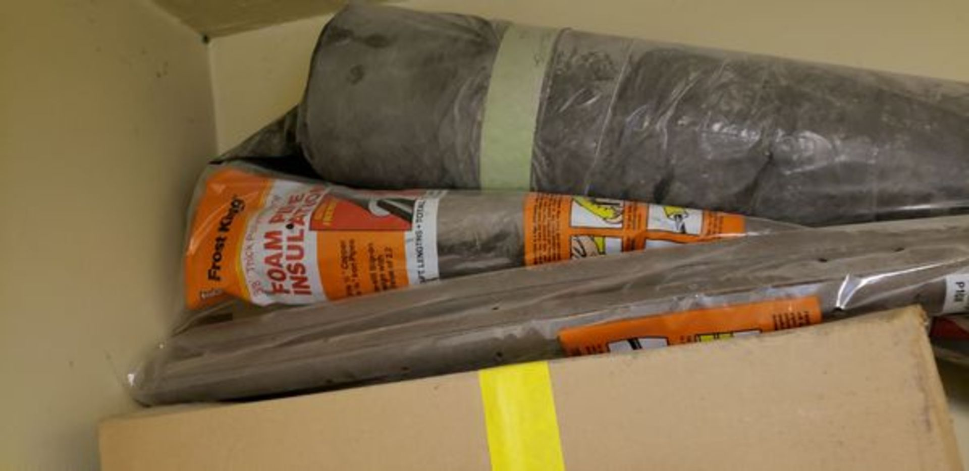 LOT OF MISC FABRIC AND INSULATION ON TOP ANDNEXT TO CABINET - Image 5 of 5