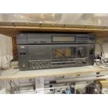 JVC TUNER AND RECEIVER RX-R85 WITH SPEAKERS